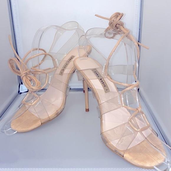Zara size 10 strappy sandals